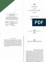 Adorno_LyricPoetryAndSociety