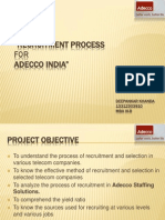 Recruitment Process for ADECCO