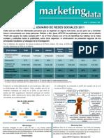 MKT Data Perfil Del Usuario de Redes 2011
