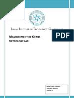 Measurement of Gears