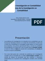 Problemas de Investigacion Contable y Problemas de la Investigación Contable