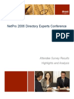 2006 Experts Conference Survey White Paper