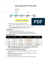 ENetwork Basic Configuration PT Practice SBA