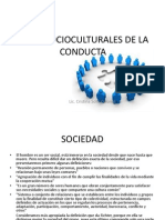 Bases Socioculturales de La Conducta