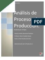 Analisis de Procesos de Produccion