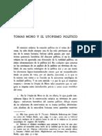 Tomás Moro y el Utopismo. Jesús Fueyo.