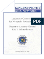 Attorney General Eric Schneiderman's NonProfit Leadership Committee Report February 16, 2012