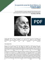 El sistema de exposiciòn zonal De anseL adams y la fotografía digital