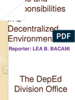 Duties and Responsibilities in a Decentralized Environment-Lea