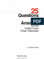 25 Questions and Answers Cabin Crew Final Interview