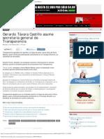 Gerardo Távara Castillo asume secretaría general de Transparencia _ RPP NOTI