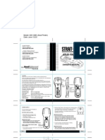 STrait Line Stud Finder Manual