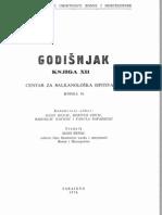 Godišnjak Centra za balkanološka ispitivanja Akademije nauka i umjetnosti BiH [knjiga 12, 1974.]
