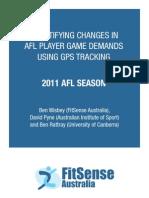 2011 Afl Gps Report