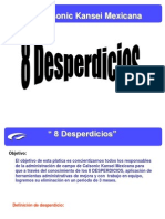 8 desperdicios