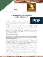 Carta a Los Emprendedores Latinoamericanos