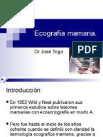Ecosonografía Mamaria