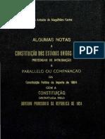 COMPARAÇÃO ENTRE A CONSTITUIÇÃO DO IMPERIO E A CONSTITUIÇÃO DA REPÚBLICA - MAGALHAES DE CASTRO