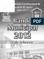 Bando Municipal Naucalpan de Juarez 2012
