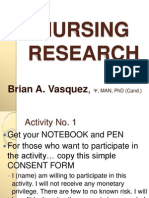 Nursing Research (1day) BAV