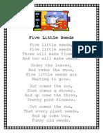 Homework - Five Little Seeds