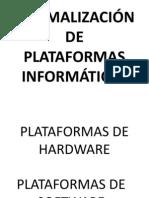 NORMALIZACIÓN DE PLATAFORMAS INFORMÁTICAS