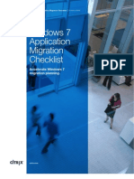 Windows7 Application Migration