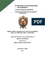 PERFIL LIPIDICO SANGUINEO EN CUYES EN CRESIMIENTO www.peru-cuy.com
