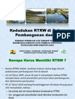 Kedudukan RTRW Kab Dlm Pemb