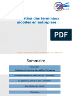 La gestion des terminaux mobiles en entreprise - V.2 (2012)
