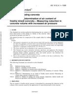 As 1012.4.1-1999 Methods of Testing Concrete Determination of Air Content of Freshly Mixed Concrete - Measuri