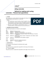 As 1012.8.2-2000 Methods of Testing Concrete Method of Making and Curing Concrete - - Flexure Test Specimens