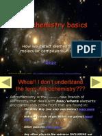 Astrochemistry Basics