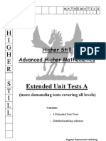 Advanced Higher - Extended Unit Tests A