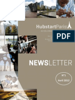 Newsletter Hubstart Paris Avril-2012