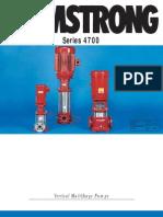 4700 Series Vertical Multistage Pumps Brochure 2005 Edition