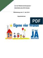 "Argumentarium Initiative ""Eigene vier Wände dank Bausparen"""