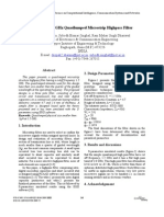 Design of 1.5 GHz Quasi Lumped Micro Strip Highpass Filter