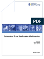 Automating Group Membership Administration