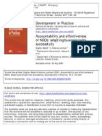 Accountability and Effectiveness of NGOs Adapting Bussiness Tools Successfully