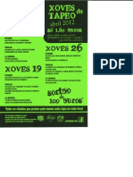 xoves tapeo abril