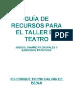 GUÍA DE RECURSOS PARA EL TALLER DE TEATRO