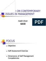 Seminar on Contemporary Issues in Management