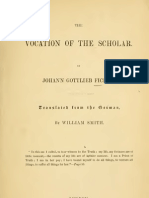 Fichte Vocation of the Scholar