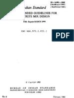 Concrete Mix Design Code Is 10262 Pdf