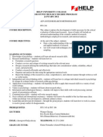 Jan 2012 PSY 201 Course Outline