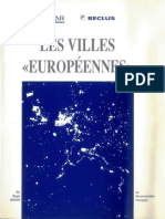 """Roger Brunet (1989) """"Les villes européennes"""", RECLUS-DATAR"""