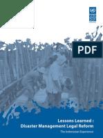 Lessons Learned Disaster Management Legal Reform