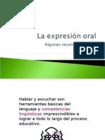 La expresión oral