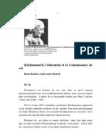 Krishnamurti, L'éducation et la Connaissance de Soi, par René Barbier